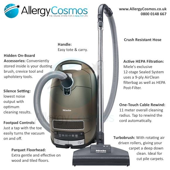 Miele C3 Allergy PowerLine Vacuum Features