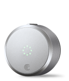 August Home August Smart Lock Pro + Connect with Wi-Fi Bridge, Dark Gray.