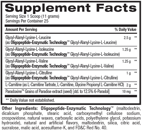Best BCAA Shredded™ - Recovery and Weight Loss (25 Servings) Supplement Facts
