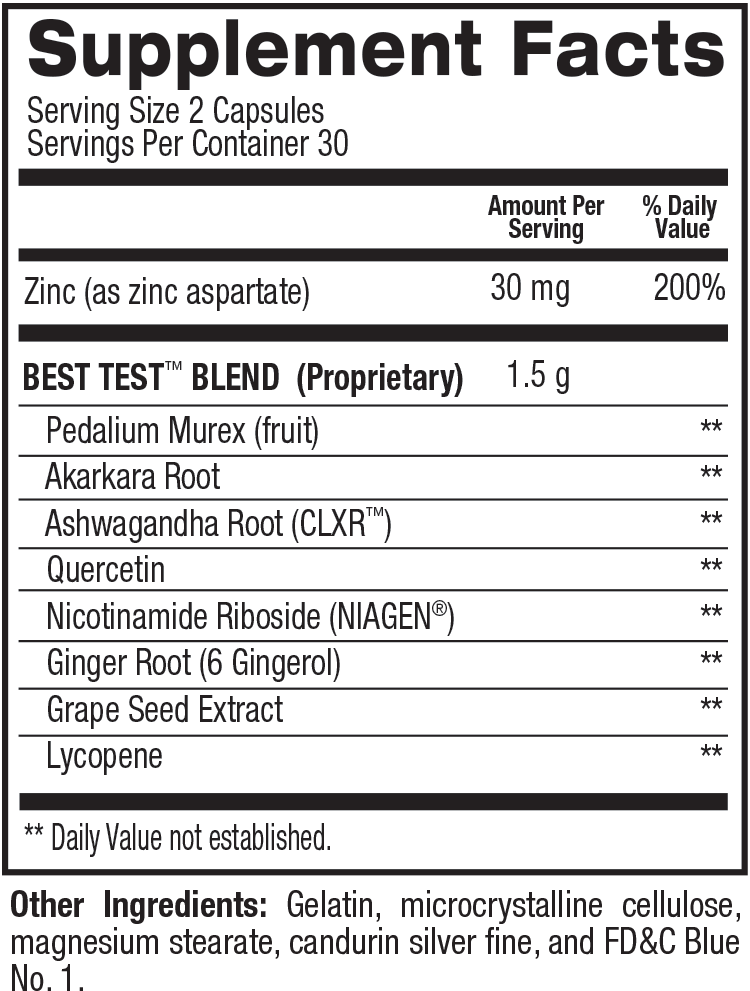 Best Test Supplement Facts