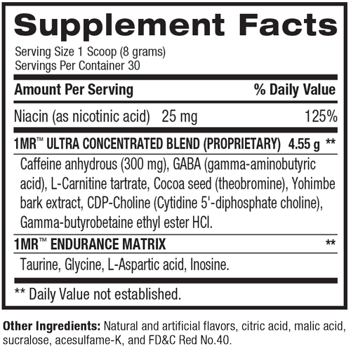 1.M.R Supplement Facts