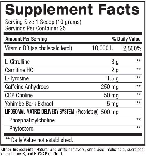 Supplement facts for BAM