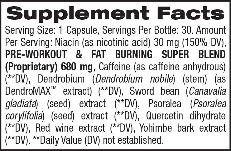 B4™ - Weight Loss And Energy (30 Servings) Supplement Facts