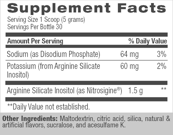 Nitro HD™ - Stimulant Free Pre-Workout (30 Servings) Supplement Facts