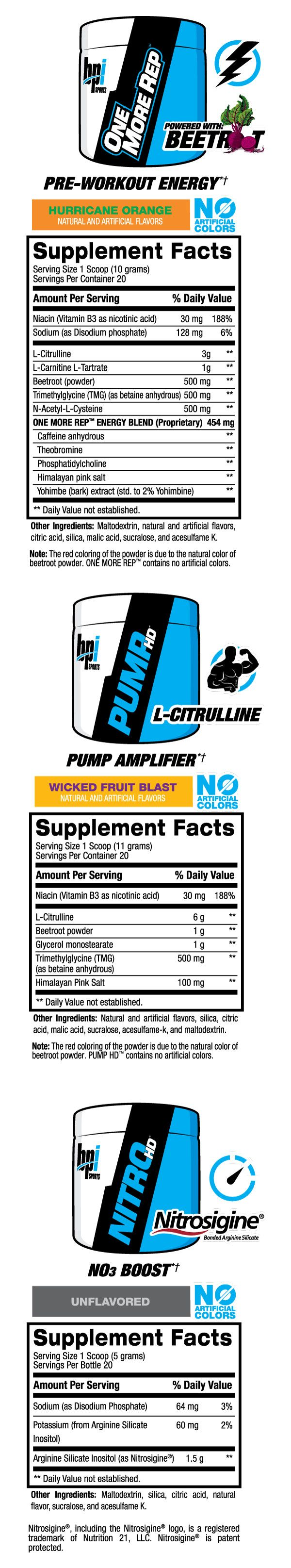 Triple Threat Kit Supplement Facts