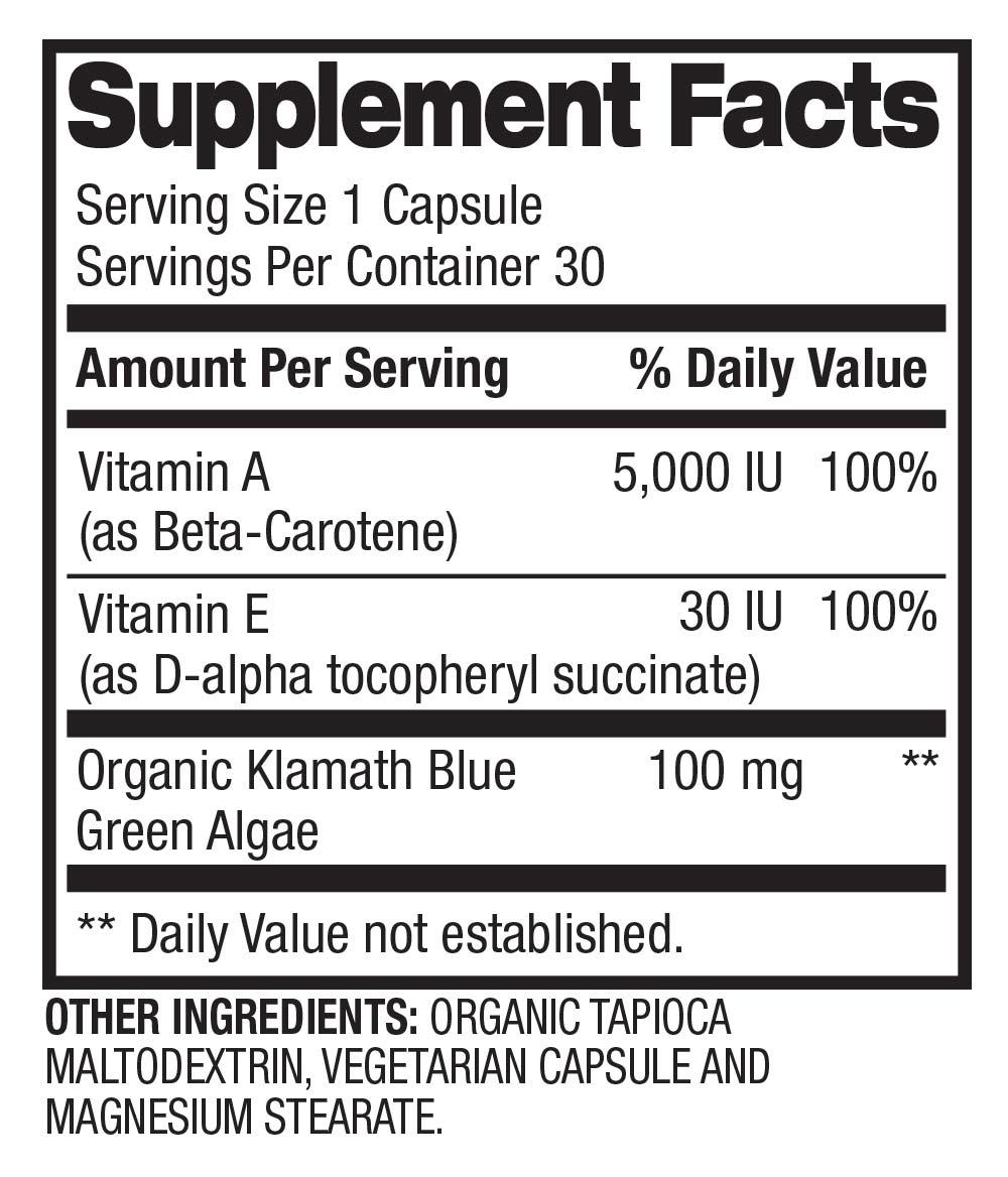 Health - Vitamin A & E Supplement Facts