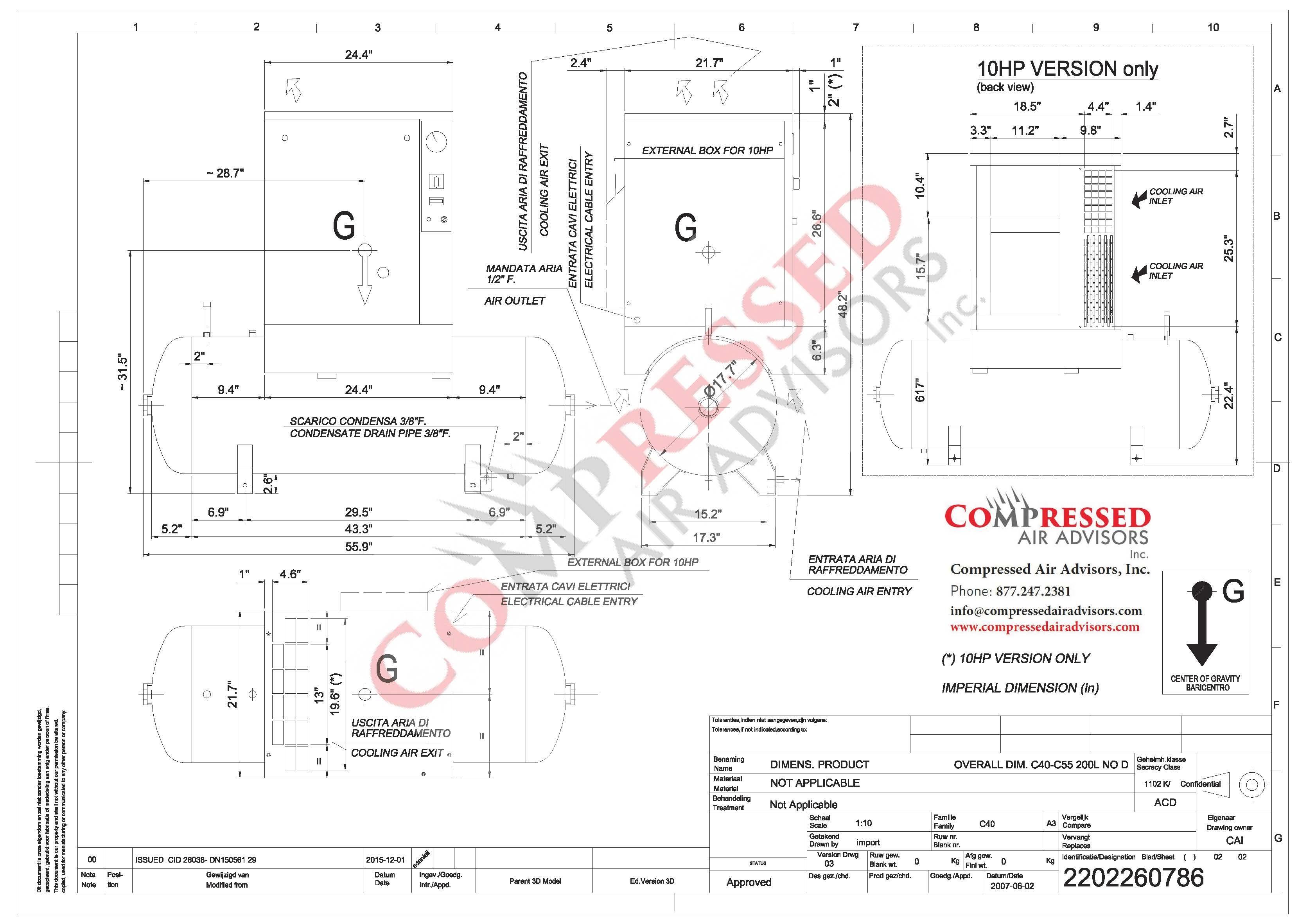 Chicago Pneumatic QRS 5-HP Industrial 60-Gallon Air Compressor – Compressed  Air AdvisorsCompressed Air Advisors