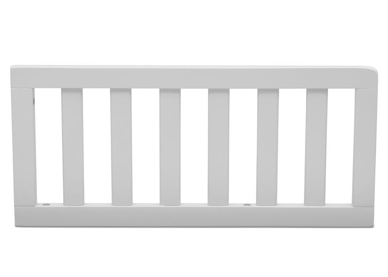 Simmons Kids White (100) Toddler Guardrail (0080) h1h White (100) c1c for Epic 4-in-1 Convertible Crib