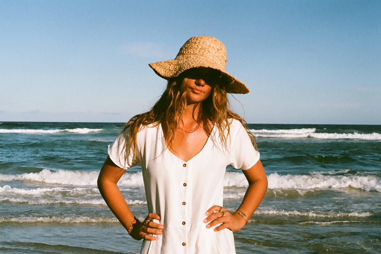 Tasi Travels' White Vagabond Jumpsuit is handmade from a sustainable Tencel & hemp blend