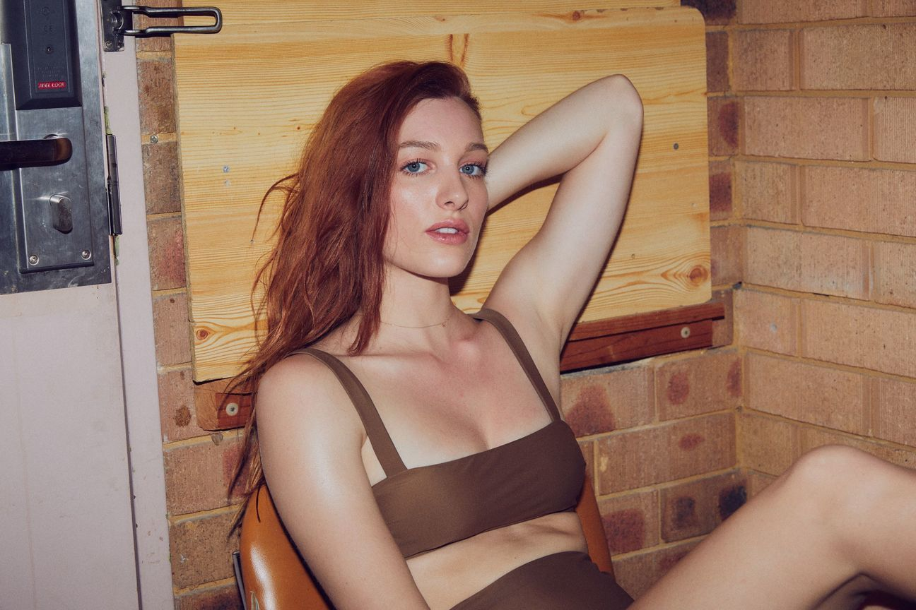 The Bronze Audrey Top from BAABY is a classic bandeau bikini made using ECONYL® recycled nylon