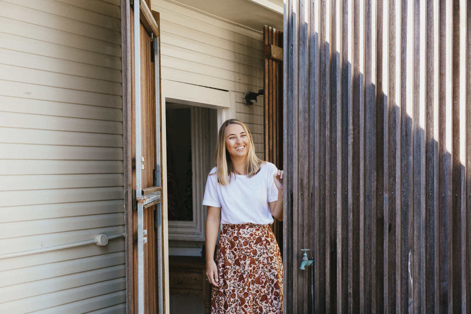 Tasi Travels' Native Paisley Wilder Wrap Skirt is handmade in Australia from sustainable modal