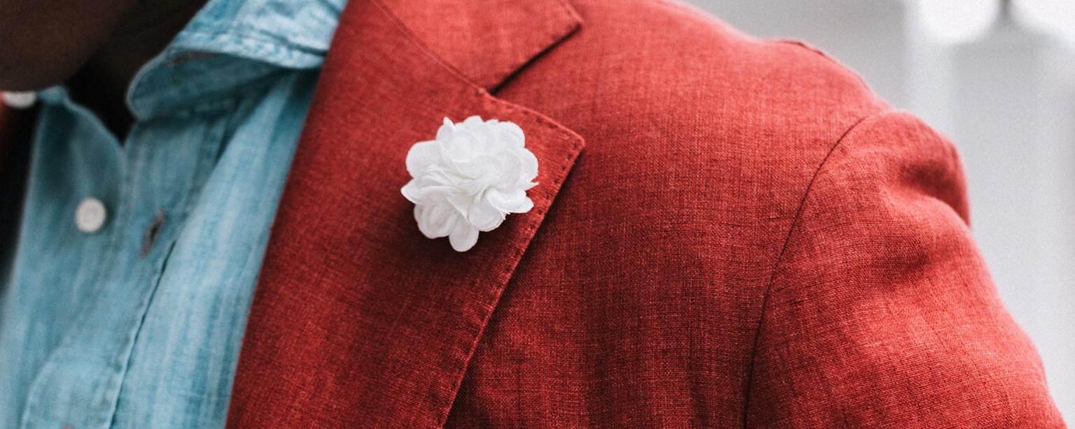 Colorways Collection - Small Lapel Flower - Buttercup Solid