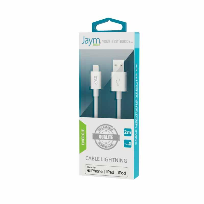 CABLE USB 2 M Jaym Smartphones - Hubside.Store- image 1