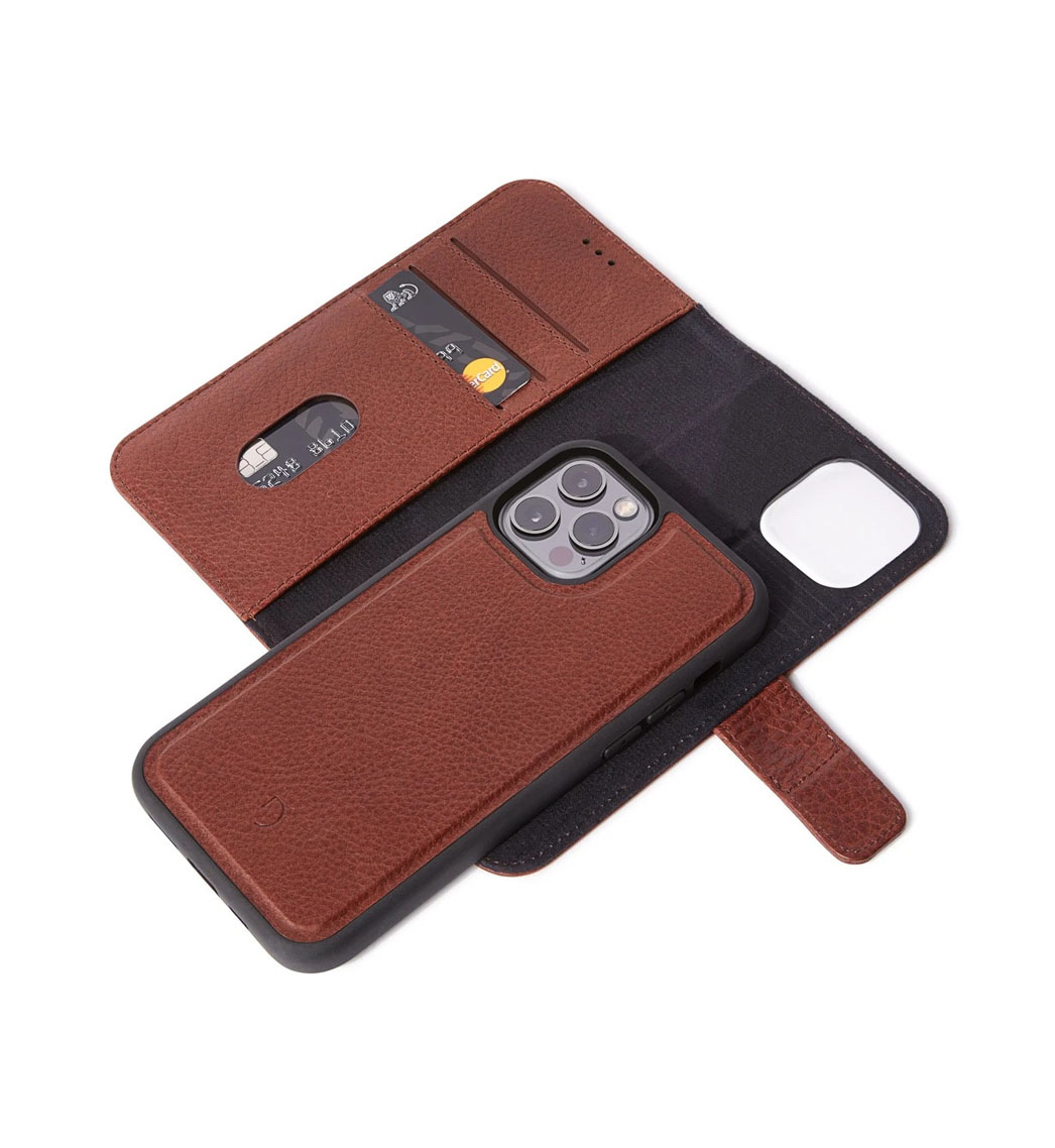 COQUE DECODED PORTEFEUILLE MARRON IPHONE 12 PRO MAX- image 2