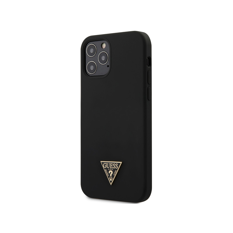 COQUE SILICONE AVEC TRIANGLE LOGO GUESS POUR APPLE IPHONE 12 PRO MAX- image 1
