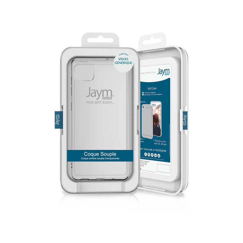 COQUE SOUPLE JAYM COMPATIBLE APPLE IPHONE 12 MINI- image 1