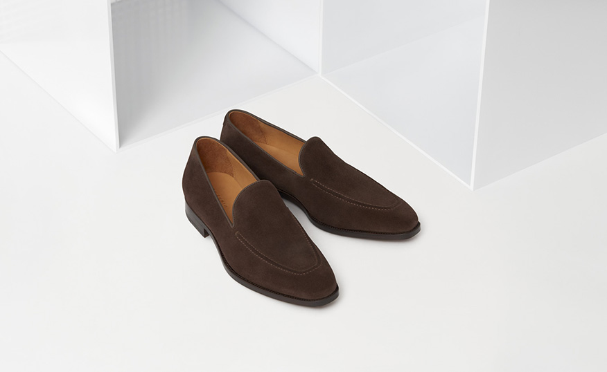Howard Loafer: Dark Brown Suede