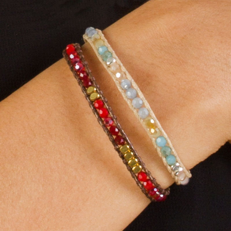Alani - Adjustable Crystal Single Wrap Bracelet