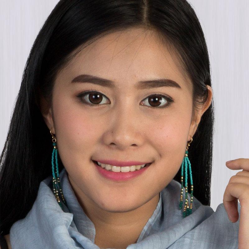 Brooke - Beaded Tassel Earrings