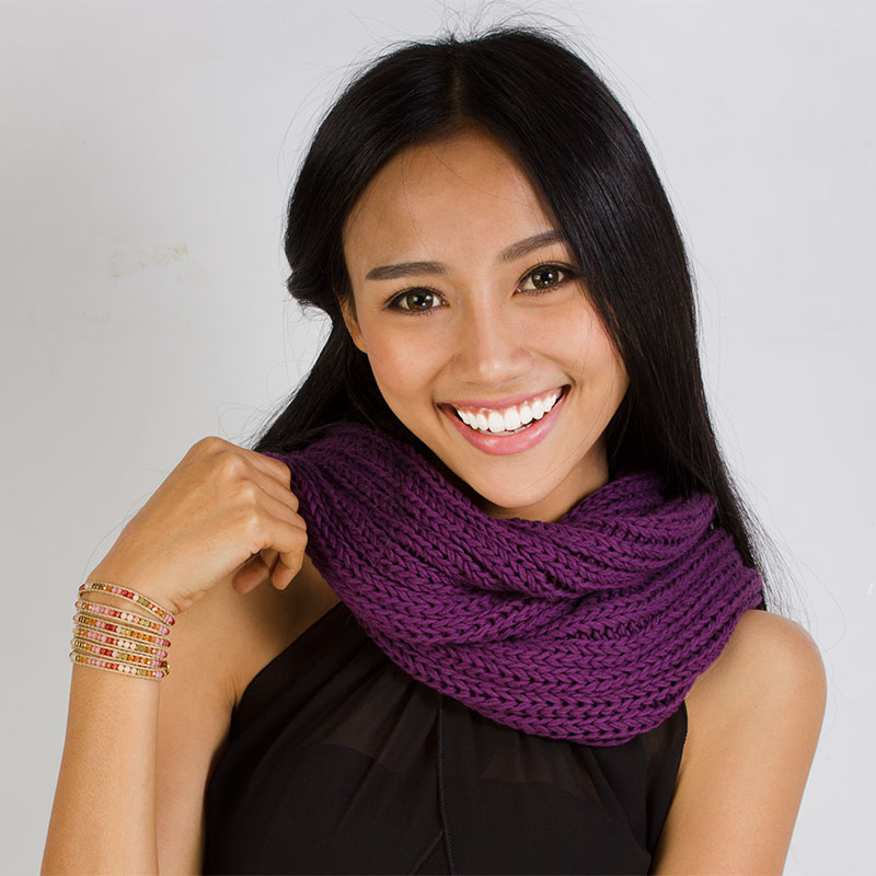 Knit Cotton Infinity Loop Scarves