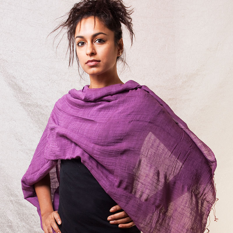 Lightweight Cotton and Silk Shawl