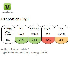 Nutritional information for Frosties 500g at Savecoonline.com