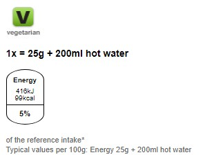 Nutritional information for Maltesers hot chocolate 180g at Savecoonline.com