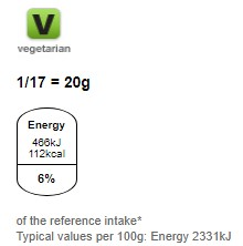 Nutritional information for M&Ms chocolate spread 350g at Savecoonline.com