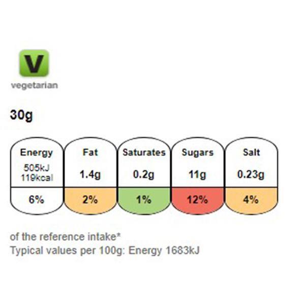 Nutritional information for Kellogg's Crunchy nut 840gg at Savecoonline.com