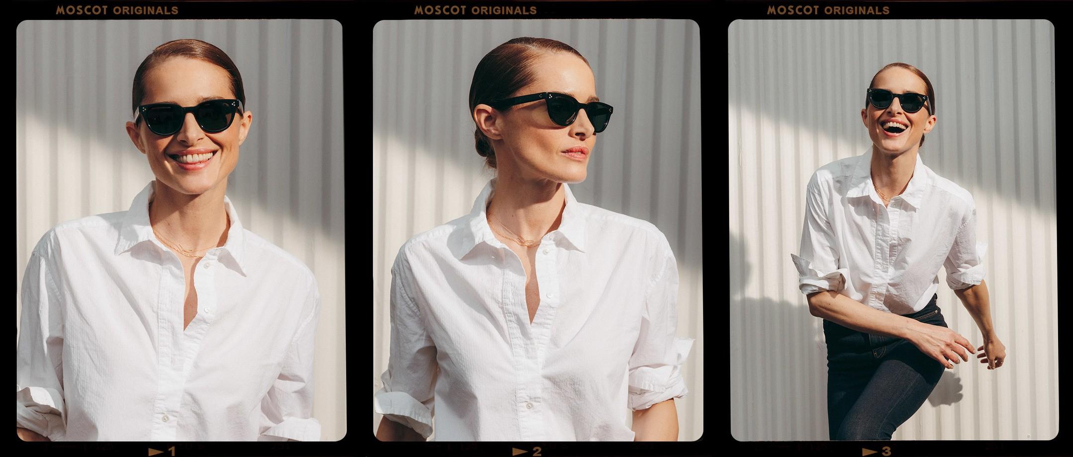 Model is wearing The VILDA SUN in size 48 in Black.