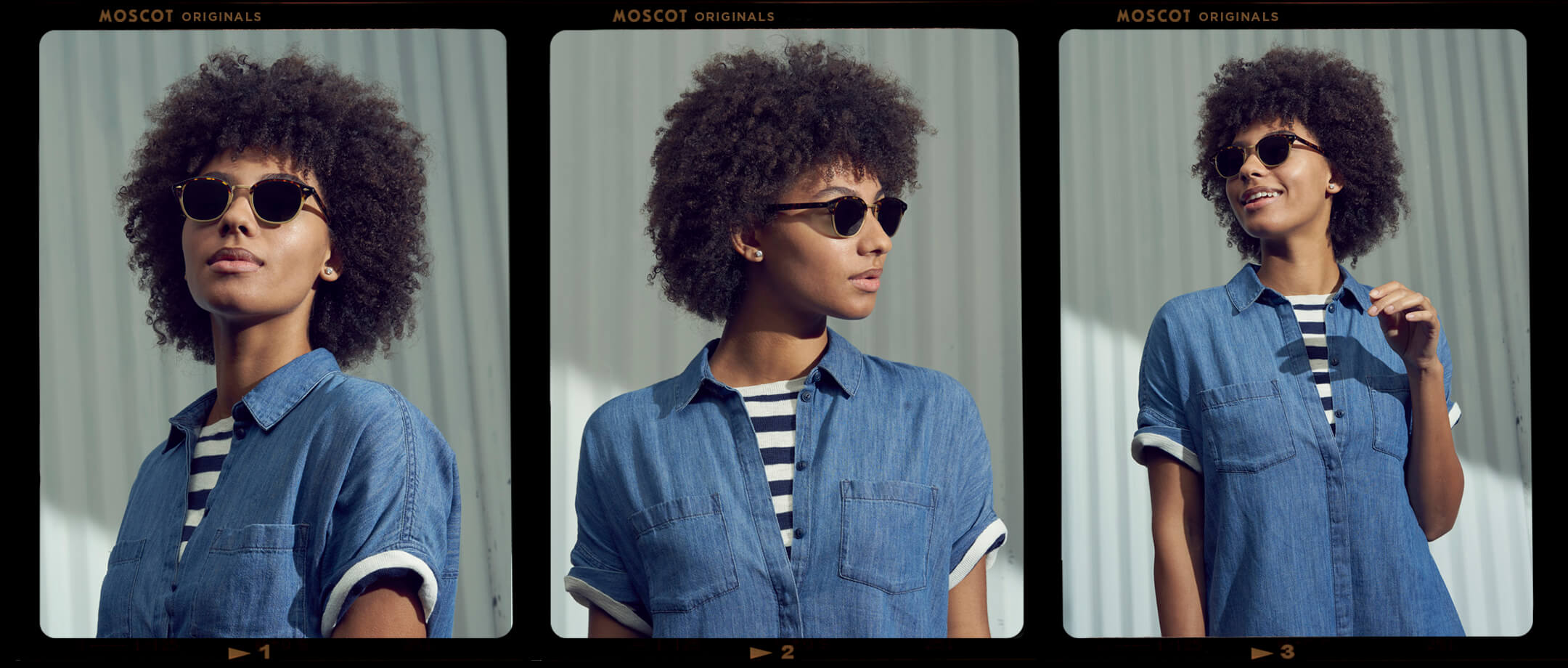 Model is wearing The LEMTOSH-MAC SUN in size 49 in Tortoise/Matte Gold.