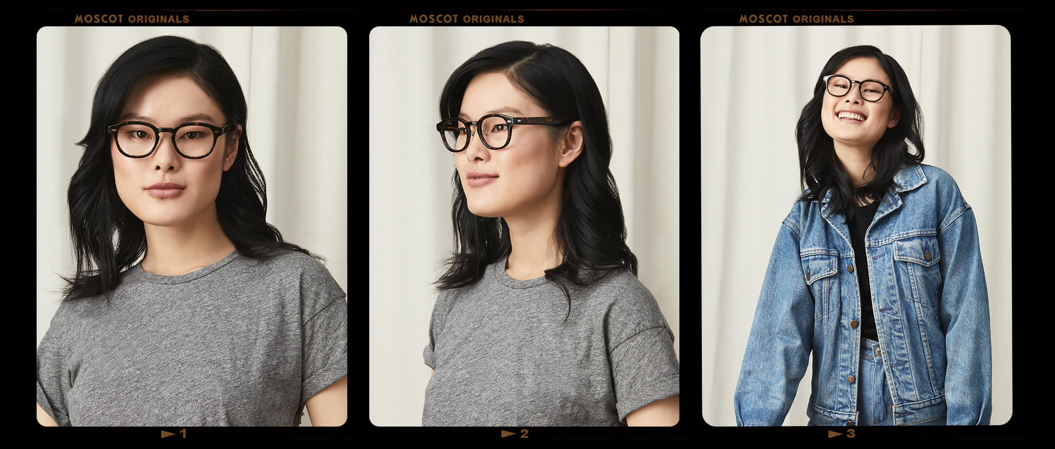 Model is wearing The LEMTOSH W/ Metal Nose Pads in size 49 in Tortoise.