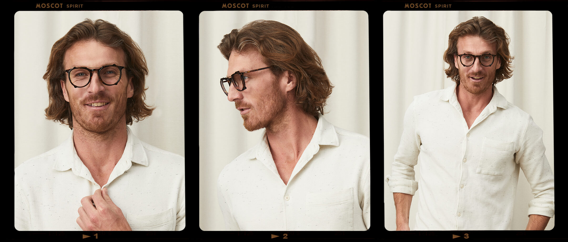 Model is wearing The DR JARED CLIP in size 50 in Tortoise on The JARED in Tortoise.