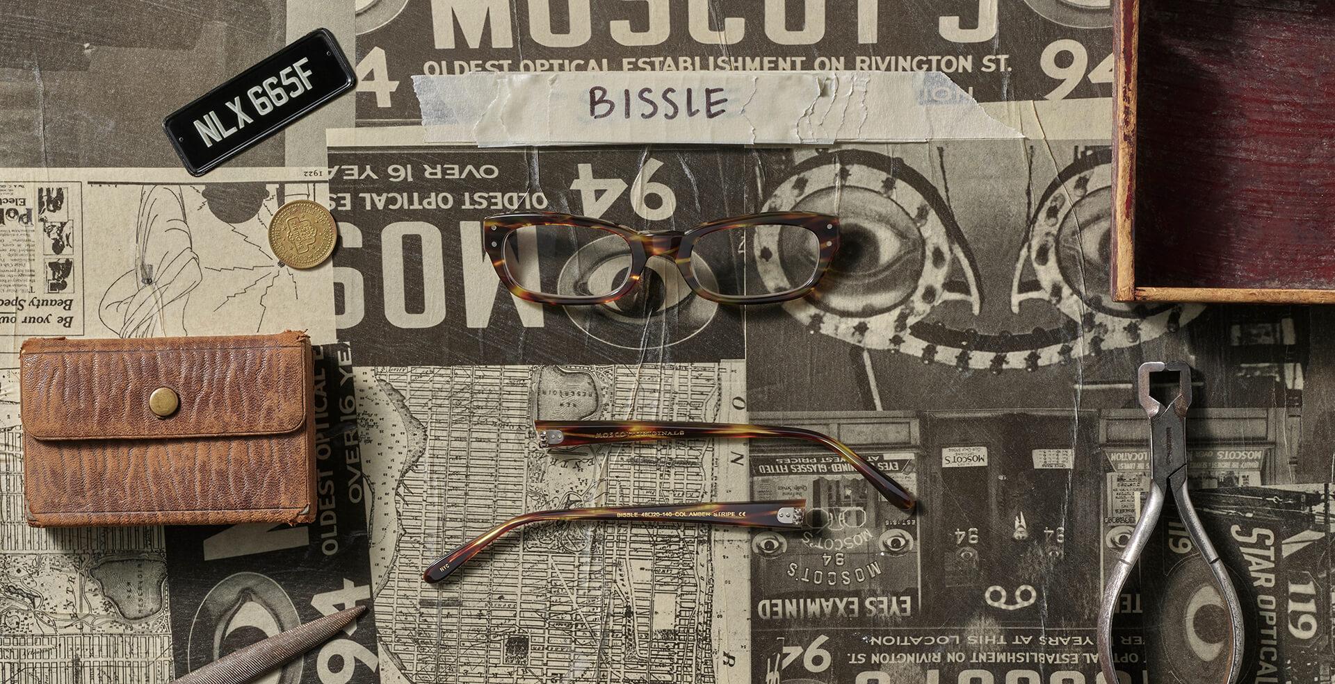 Disassembled BISSLE frame in Amber Stripe