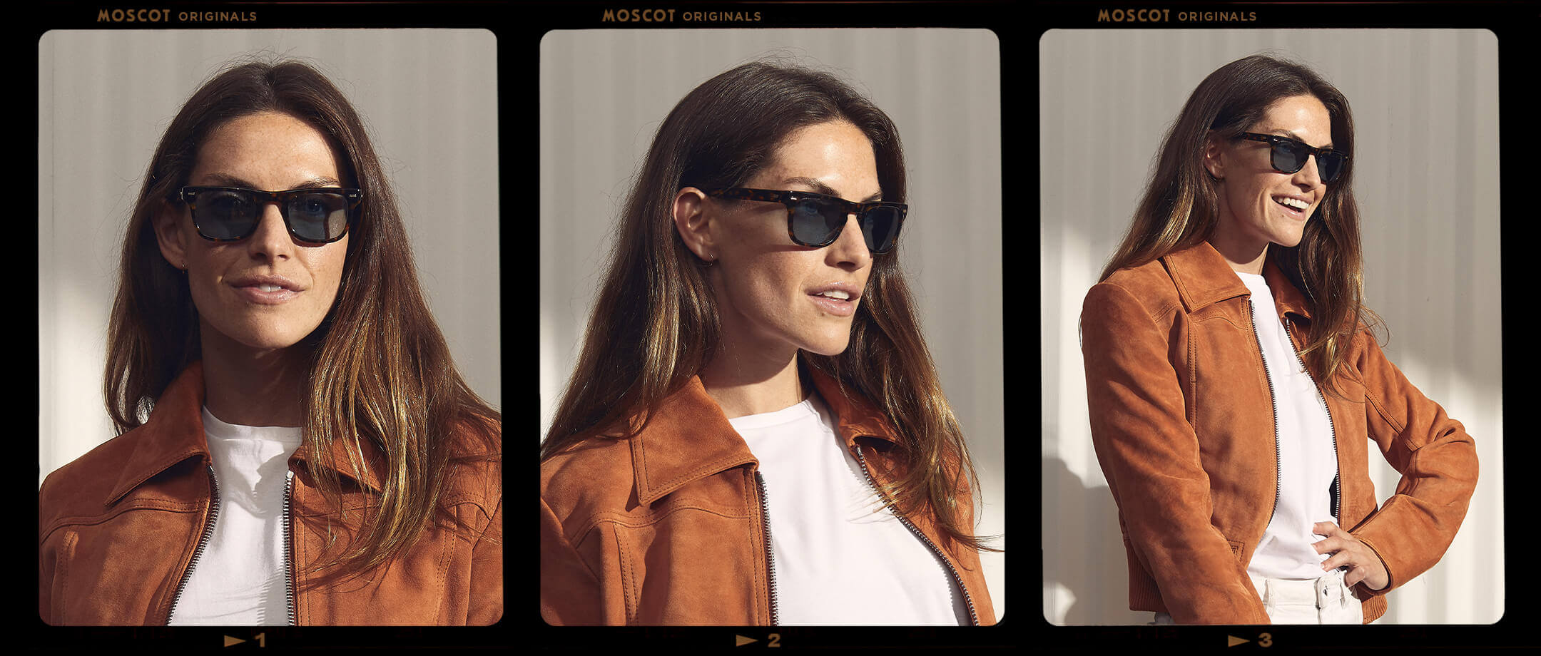Model is wearing The KAVELL SUN in size 48 in Tortoise.