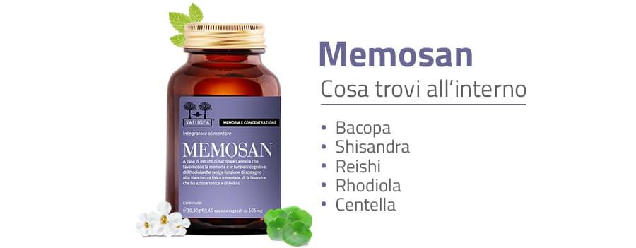 ingredienti di Memosan prodotto per la memoria e la concentrazione
