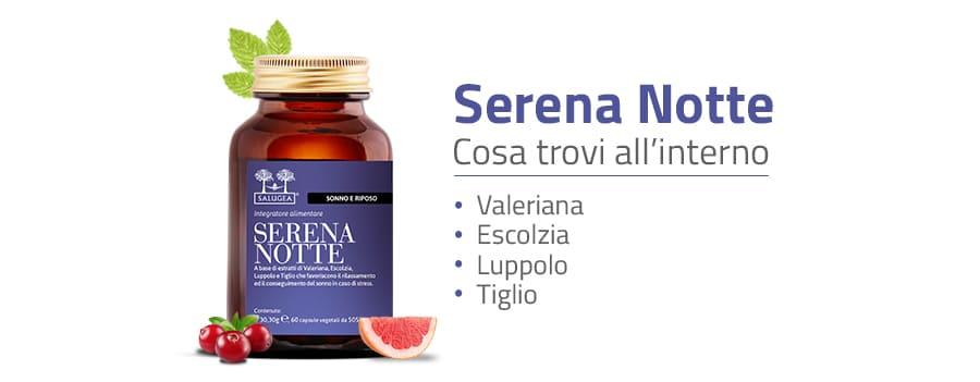 Ingredienti di Serena Notte, integratore per dormire bene