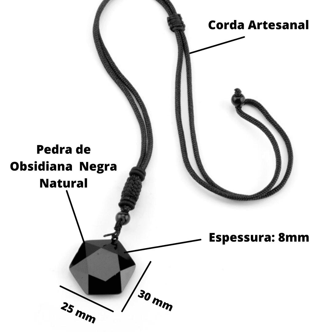 """Colar em Obsidiana Negra - """"Quantum Gem"""" - Proteção e Equilíbrio Emocional"""