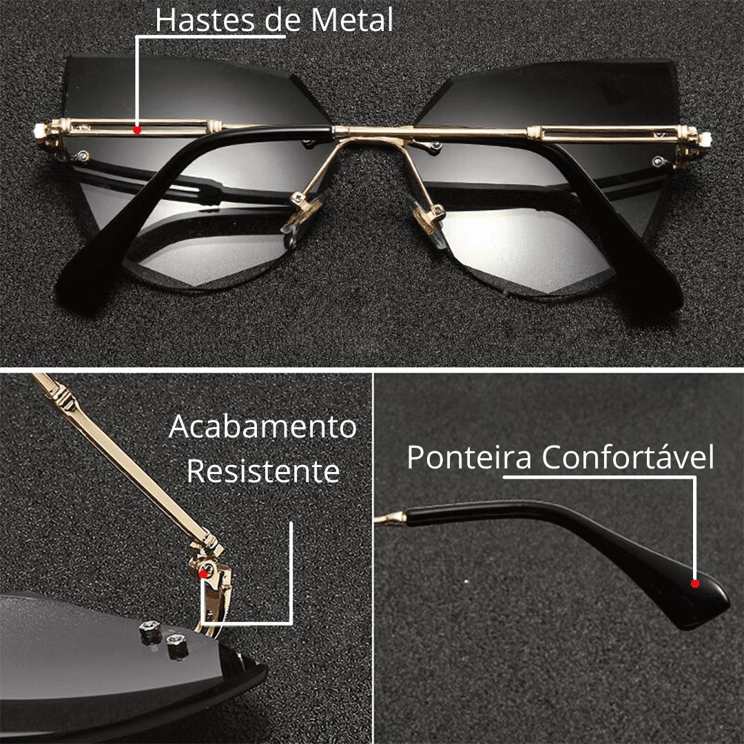 """Óculos """"Luxury Style"""" - Lentes com proteção UV"""