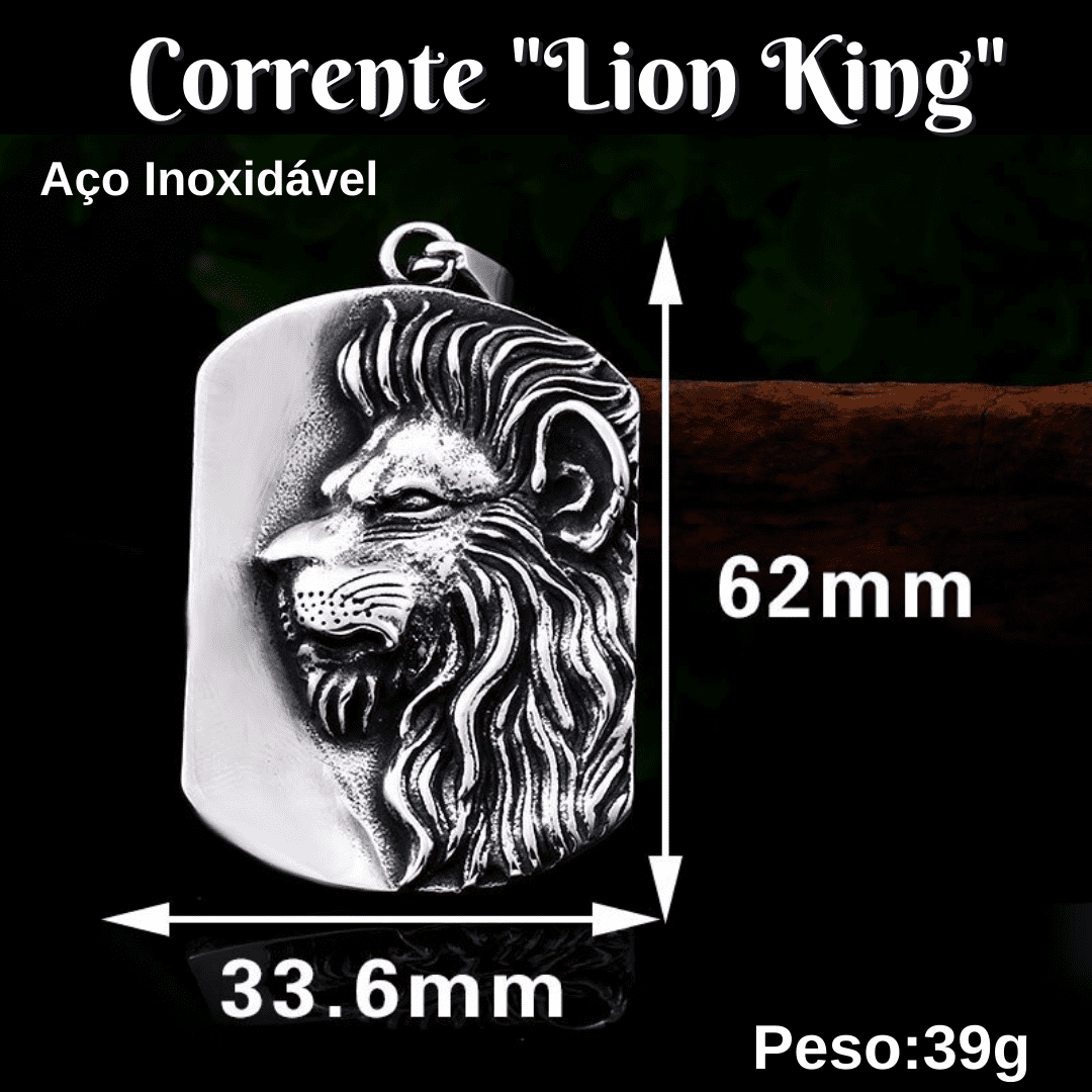 Leão de Judá - Corrente leão de perfil