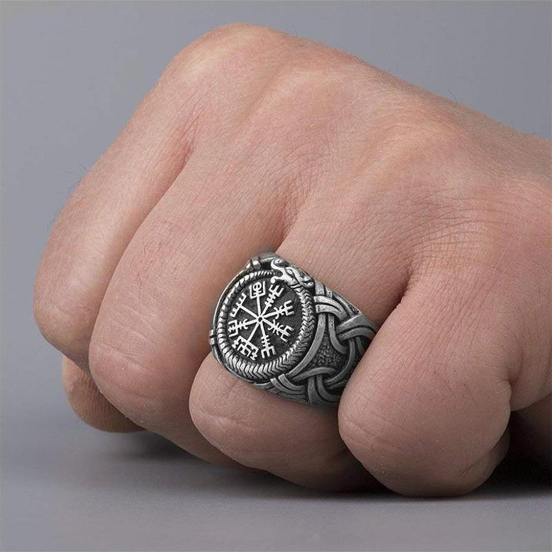 anel bússola masculino