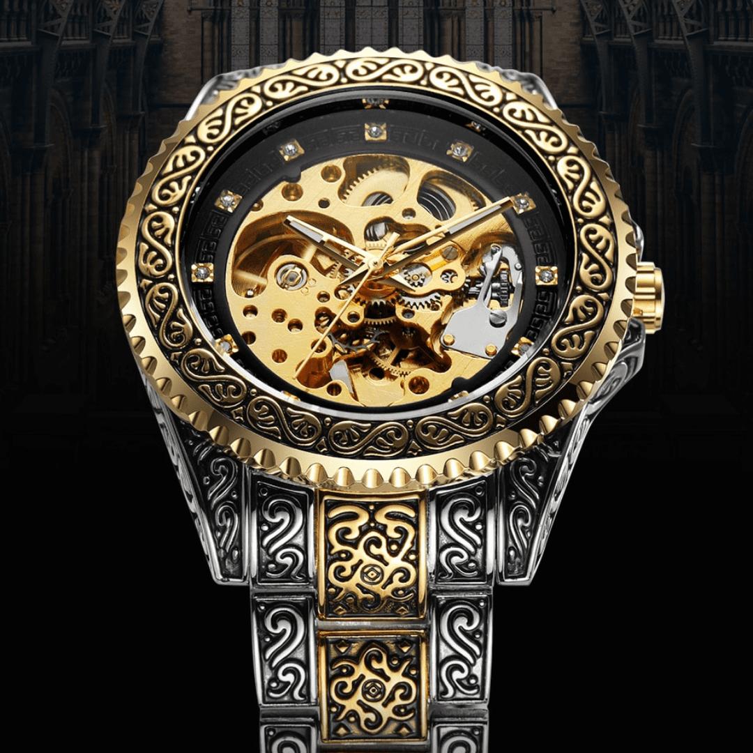 Relógio com design histórico