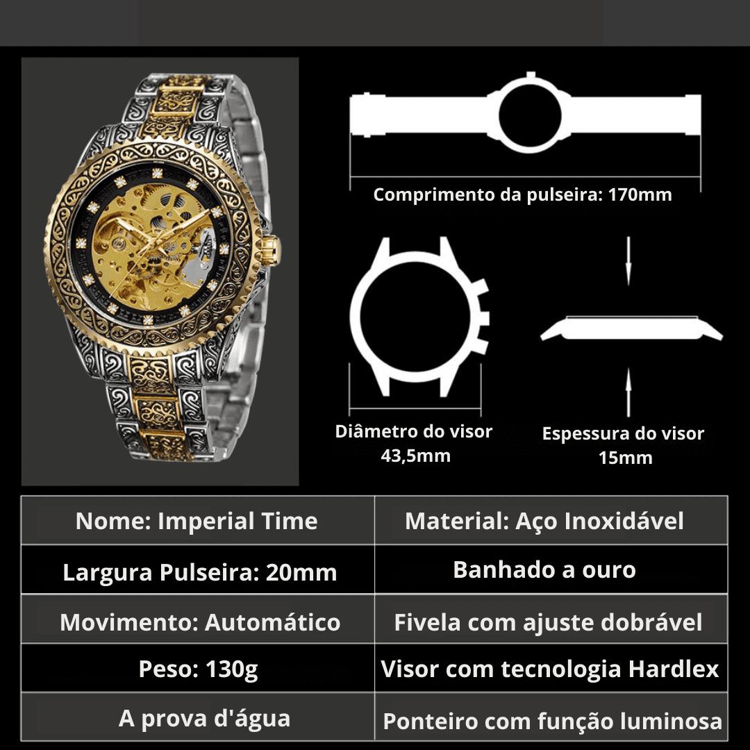 Relógio de Aço Inoxidável