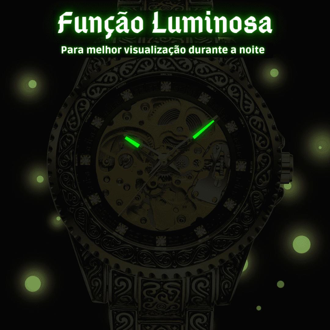Relógio com brilho noturno