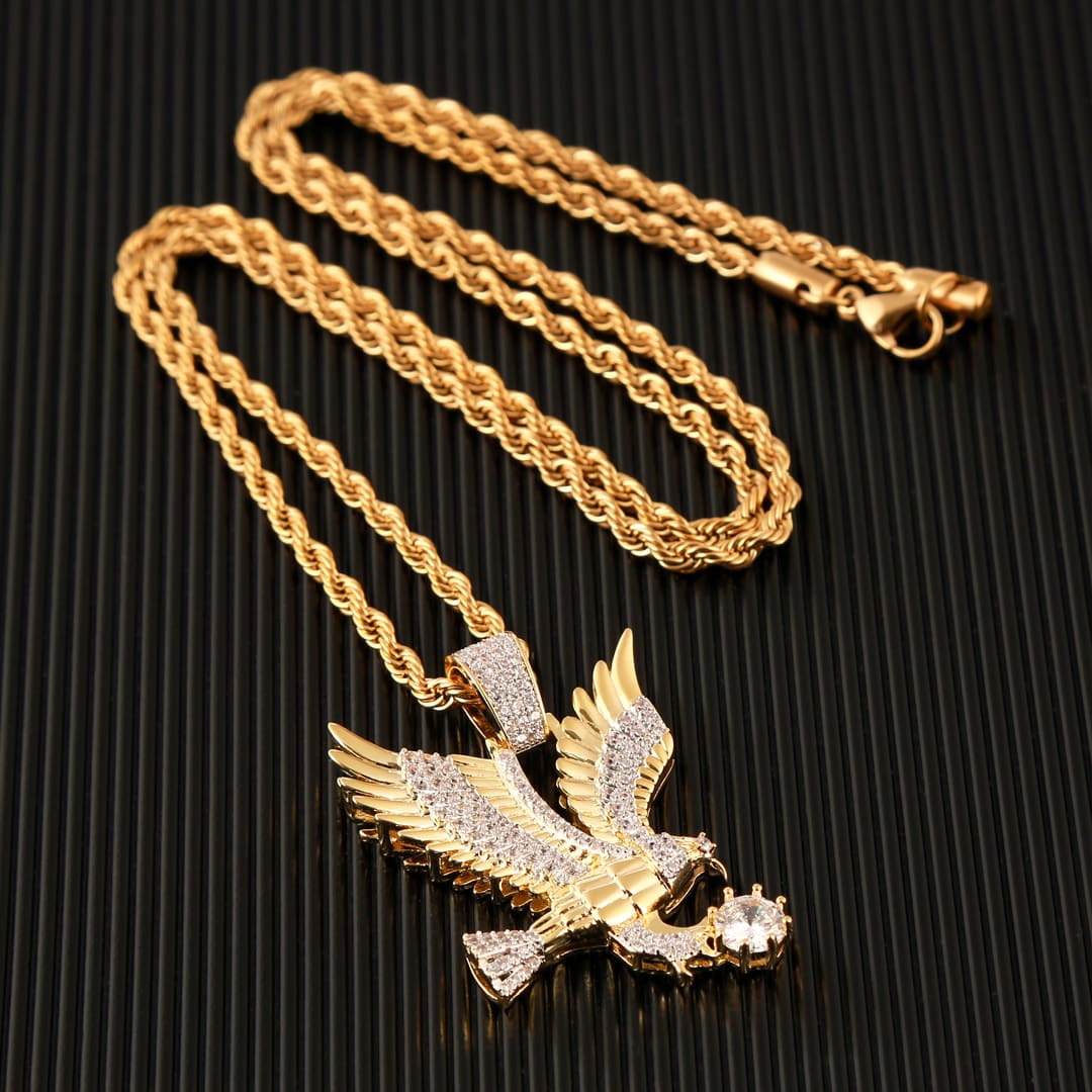 Corrente Banhada a Ouro águia