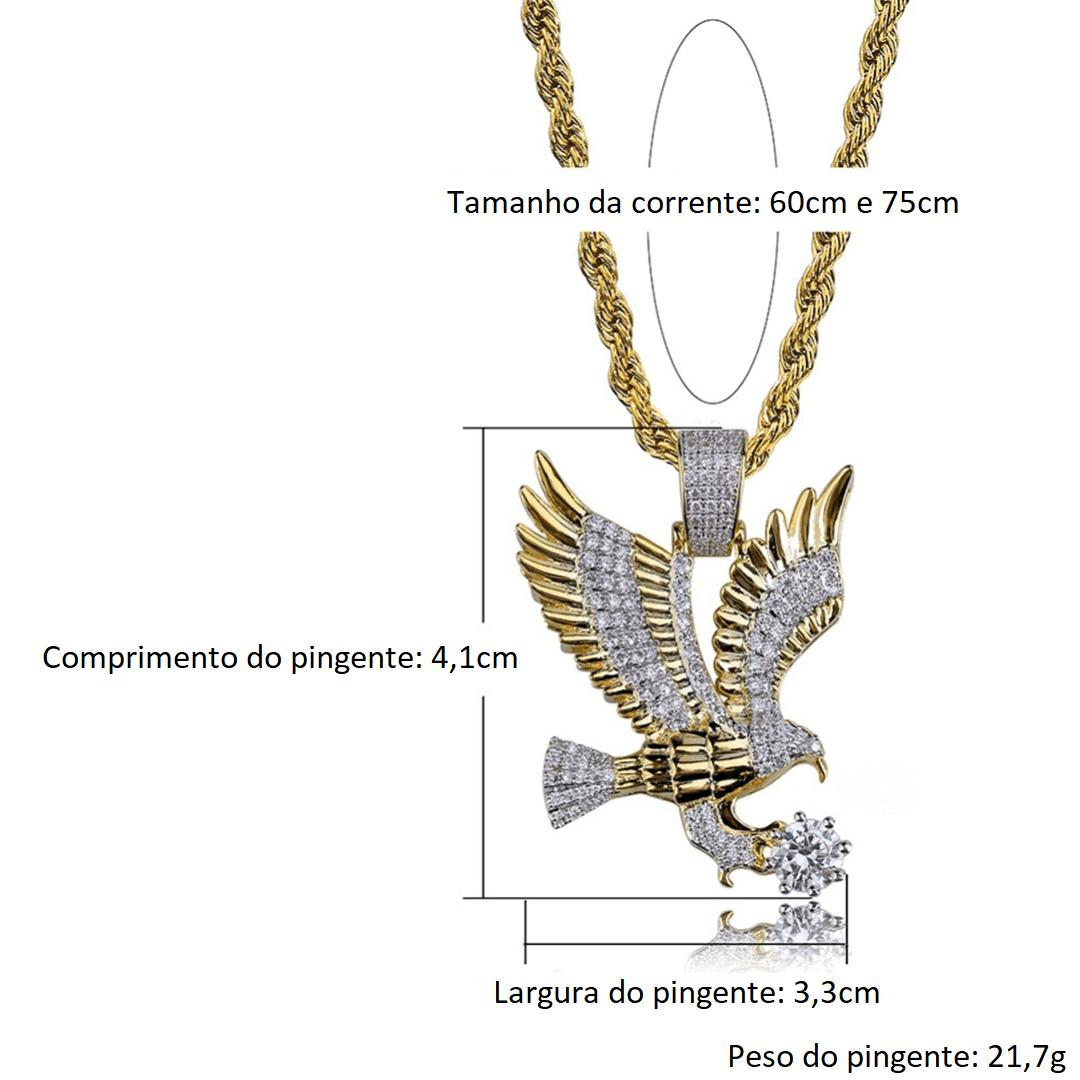 Águia Banhada a Ouro