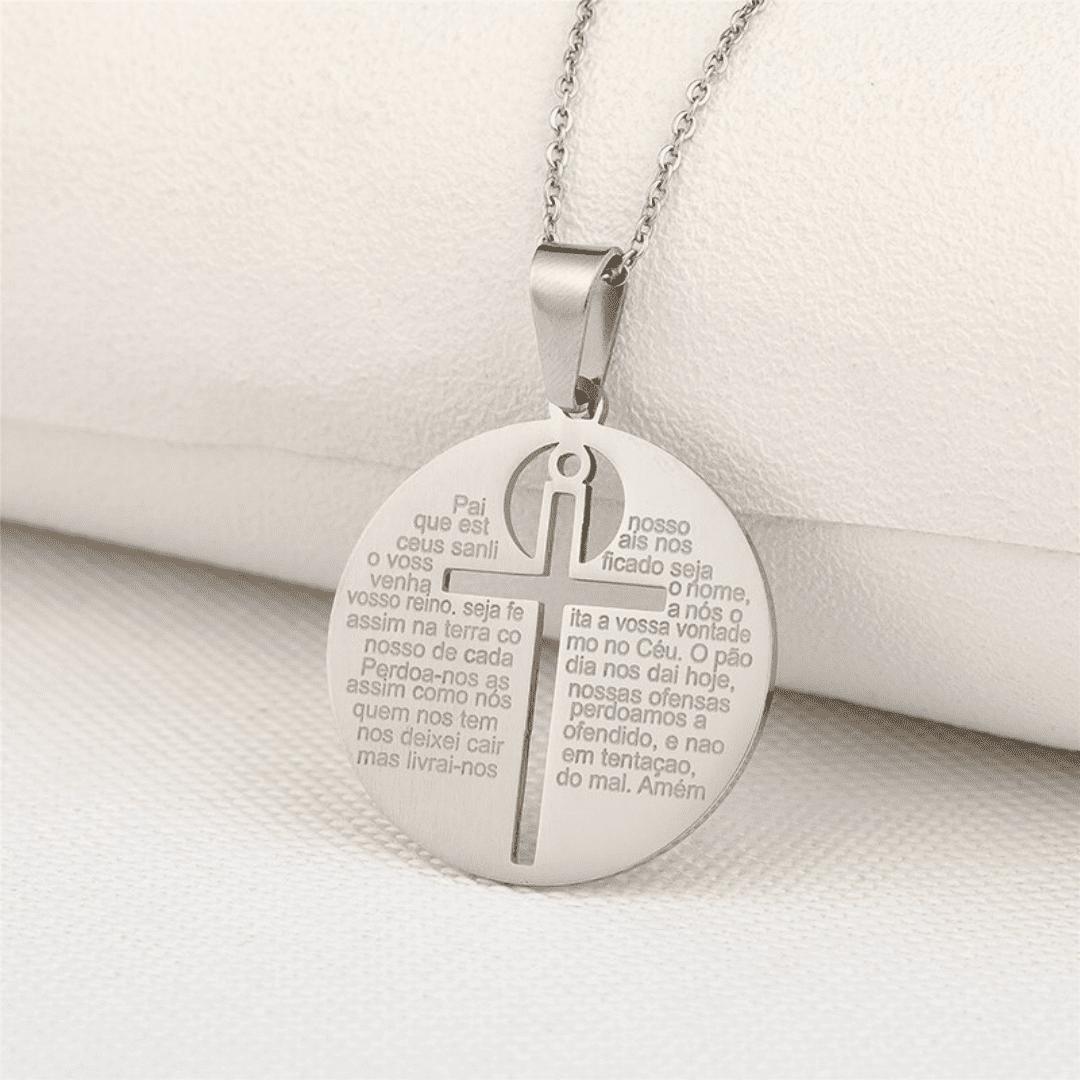 Colar com Medalha Sagrada Pai Nosso