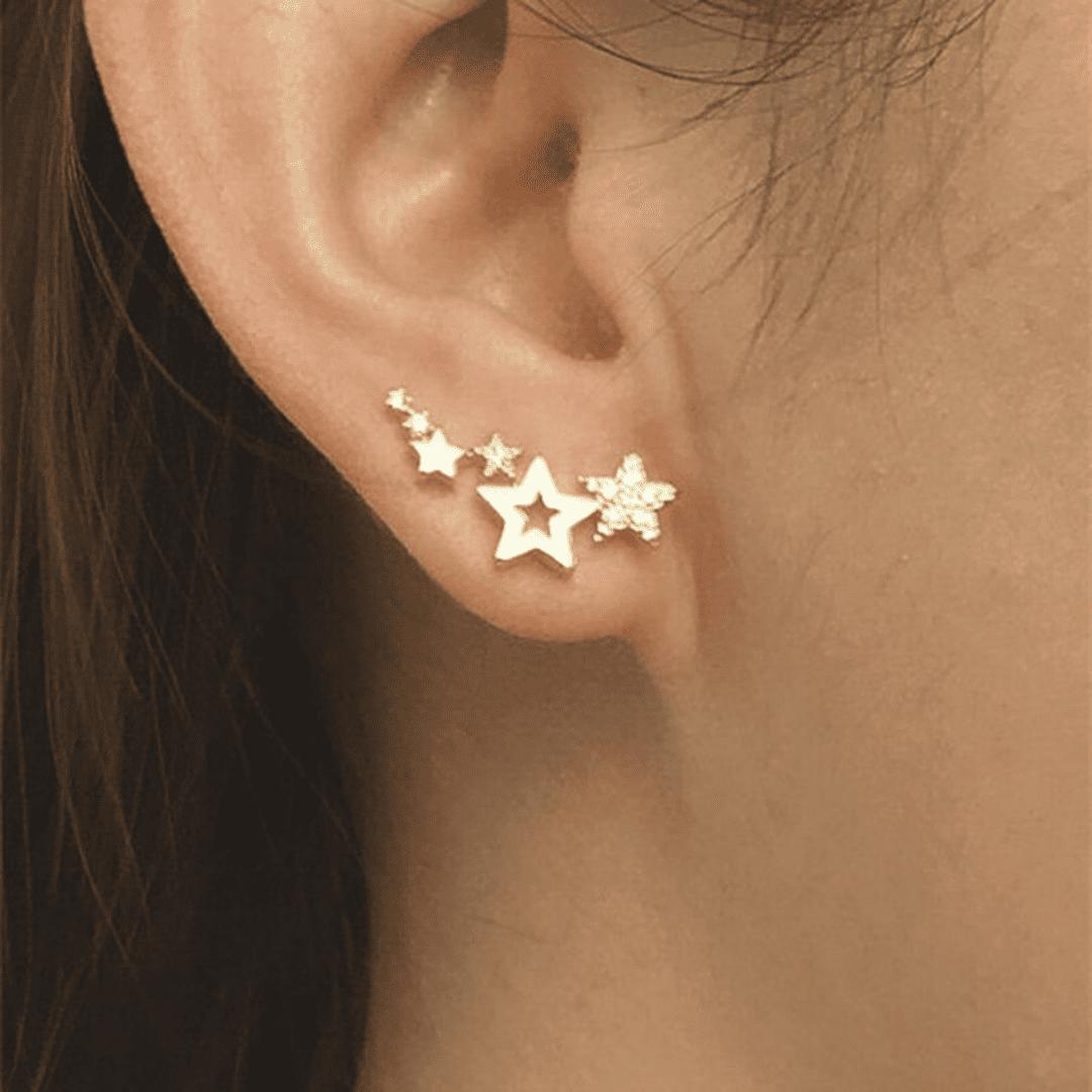 Brinco de estrela ear cuff
