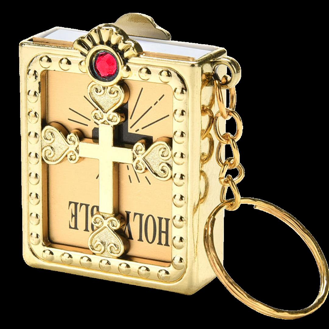 Bíblia Dourada Chaveiro