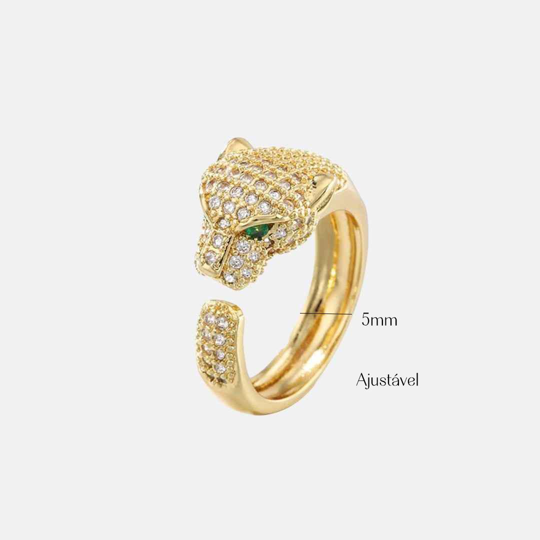 anel de leopardo ajustável